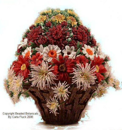 Beaded Flowers - Study of Mums