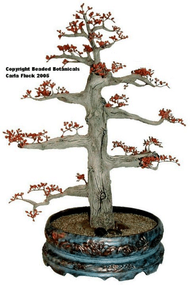Beaded Flowers - Bonsai Maple in Springtime