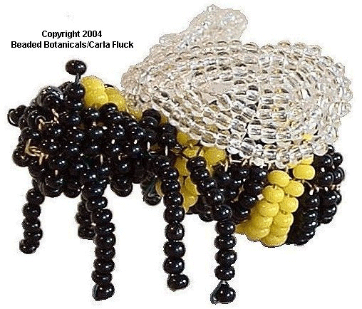 Beaded Flowers -  Bumble Bee